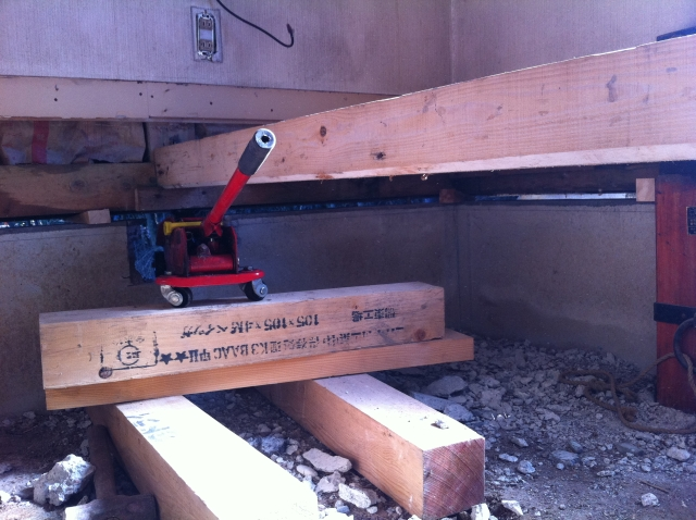 建物傾き修正工事
