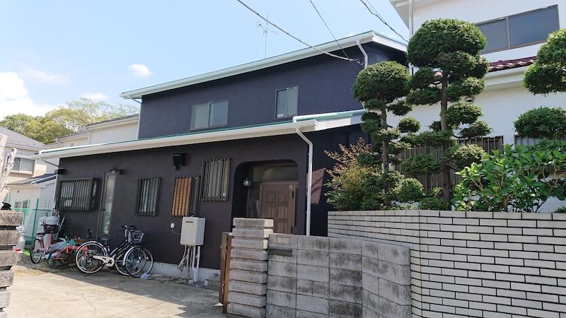 昭和50年代の戸建の外壁塗装工事